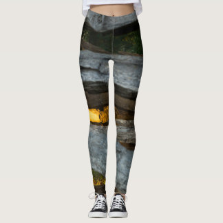 Abstrato do trilho rachado leggings