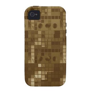 Abstrato dourado de Brown Capa Para iPhone 4/4S