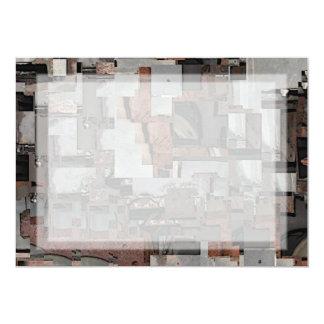 Abstrato em Brown e em cinzas. Teste padrão Convite Personalizados