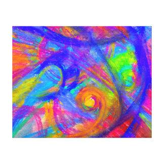 Abstrato esticado selvagem dos Pastels das canvas