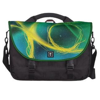 Abstrato esverdeado maletas para notebooks