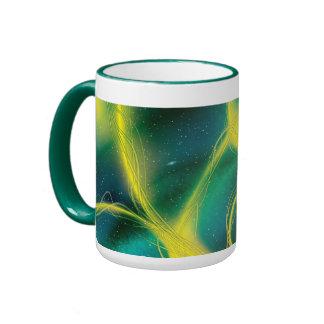 Abstrato esverdeado canecas