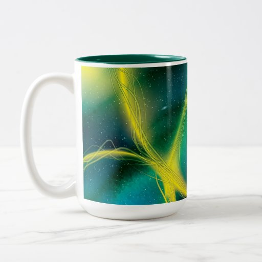 Abstrato esverdeado caneca