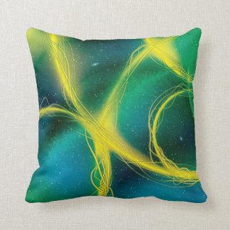 Abstrato esverdeado travesseiro de decoração