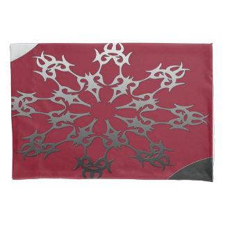 Abstrato étnico do tijolo preto vermelho de prata