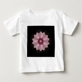 Abstrato floral cor-de-rosa t-shirt