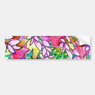 Abstrato floral da arte do Grunge do autocolante Adesivo Para Carro