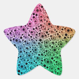 Abstrato fluorescente adesito estrela