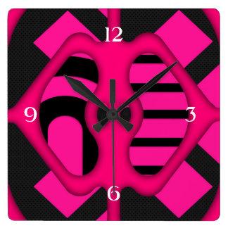 Abstrato fluorescente do rosa relógios para pendurar