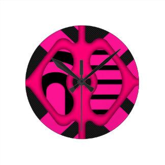 Abstrato fluorescente do rosa relógios para paredes