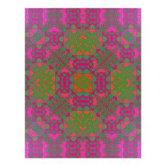 Abstrato fluorescente papeis de carta personalizados