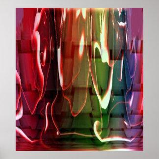 Abstrato Funky da água Poster