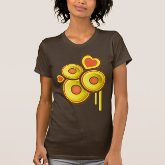 Abstrato Funky dos auto-falante dos corações T-shirt
