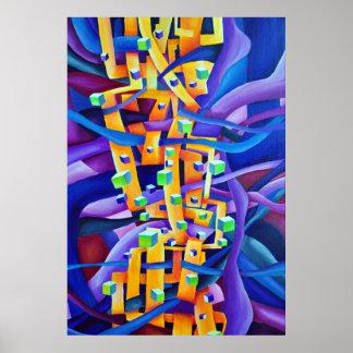 Abstrato geométrico - composição das impressões do