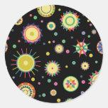 Abstrato geométrico dos Fractals - personalize o Adesivo