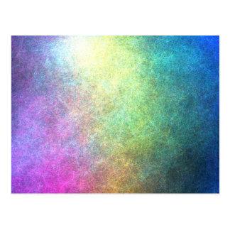 Abstrato granulado do arco-íris cartão postal