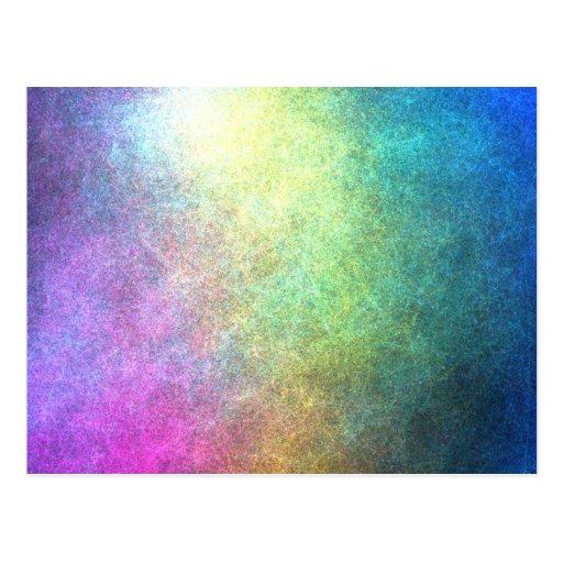 Abstrato granulado do arco-íris cartao postal