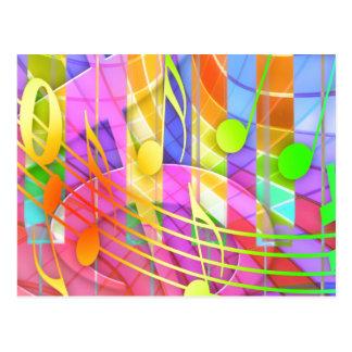 Abstrato Groovy do Musical Cartão Postal