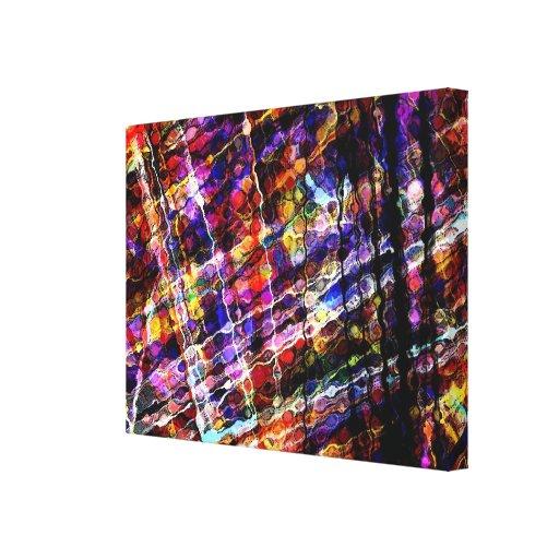 abstrato infundido impressão em canvas