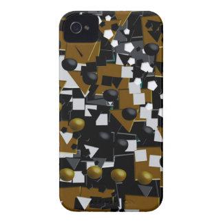 Abstrato louco do preto de Brown Capinha iPhone 4