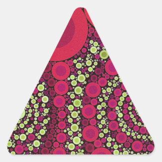 Abstrato louco fluorescente brilhante adesivos triângulo