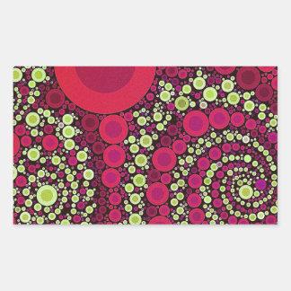 Abstrato louco fluorescente brilhante adesivos retangulares