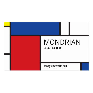 Abstrato minimalista de de Stijl da arte moderna Cartao De Visita