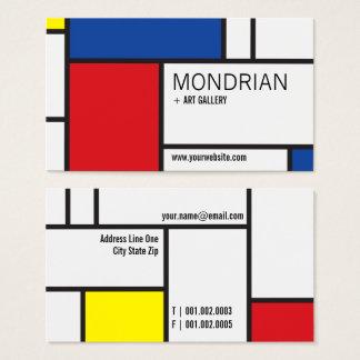 Abstrato minimalista de de Stijl da arte moderna Cartão De Visitas