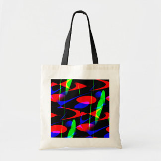 Abstrato moderno retro bolsa para compras