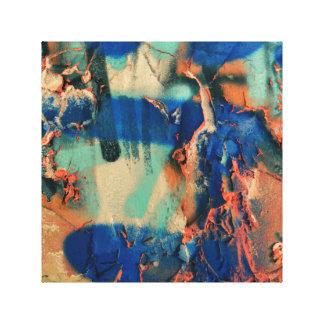 Abstrato na arte azul das canvas dos grafites