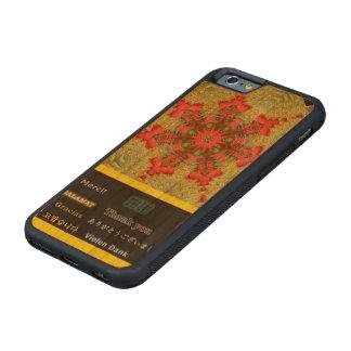 """Abstrato """"obrigado você"""" tulipa capa cherry bumper para iPhone 6"""