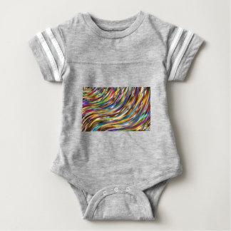 Abstrato ondulado body para bebê