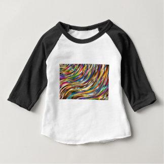 Abstrato ondulado camiseta para bebê