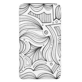 Abstrato preto e branco bolsinha para celular