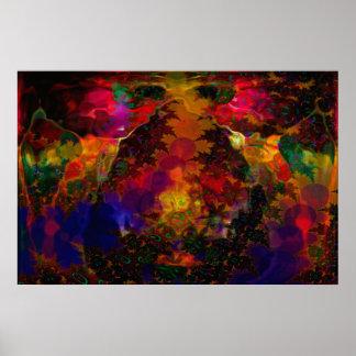 Abstrato psicadélico de Sterio Trippin Posteres