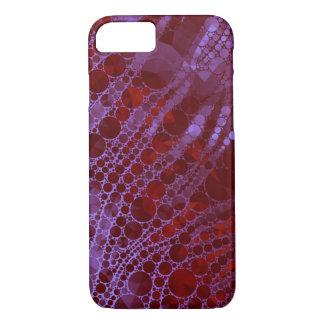Abstrato rosa vermelha fluorescente da zebra de capa iPhone 7