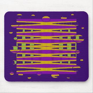 abstrato roxo do amarelo mouse pad