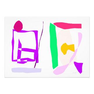 Abstrato simples convites personalizados