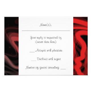Abstrato Stringy do vermelho Convites