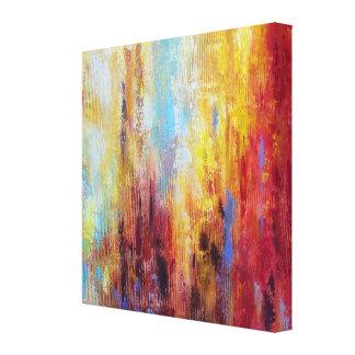 Abstrato sujo do óleo impressão de canvas esticada