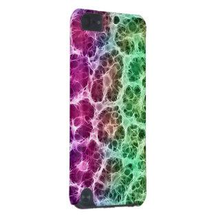 Abstrato verde cor-de-rosa do branco capa para iPod touch 5G