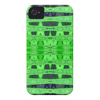 abstrato verde do preto capa para iPhone 4 Case-Mate