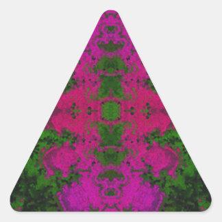 Abstrato verde fluorescente do rosa adesivo triangular