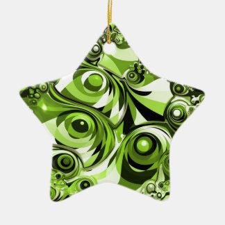 Abstrato verde ornamento de cerâmica