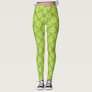 abstrato verde que legging