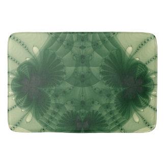 Abstrato verde retro do marfim do tapete de banho