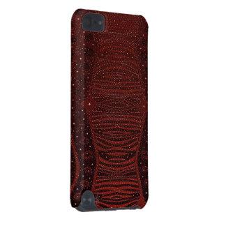 Abstrato vermelho do brilho da zebra capa para iPod touch 5G