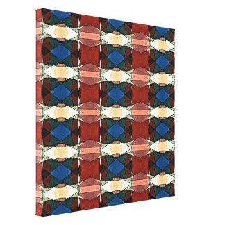 Abstrato vermelho verde e do azul impressão de canvas esticada