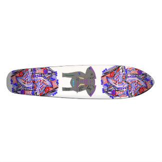 Abstratos e elefante Tattooed Shape De Skate 19,7cm
