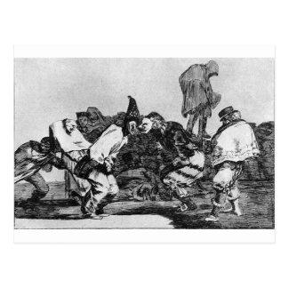 Absurdidade do carnaval por Francisco Goya Cartão Postal